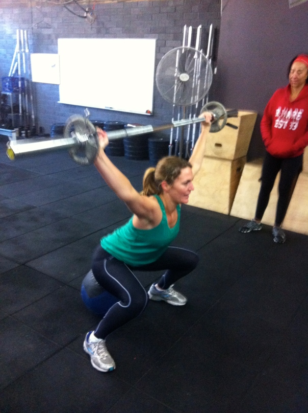 Steph working her Overhead Squat