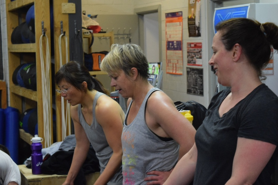 The ladies of the 5.30am cafe crew - Evelyn, Mel and Em