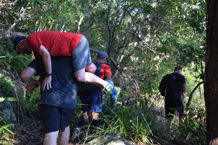 Yesterday's bushwalk incorporated some buddy carries