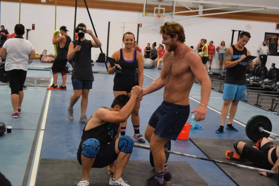 Competing against each other one minute. Supporting each other the next.  That's Crossfit.