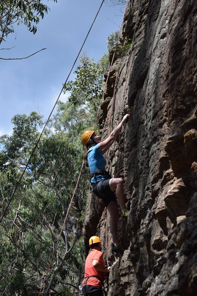Suzannah joined a group of us in a rock climbing expedition in the Blue Mountains