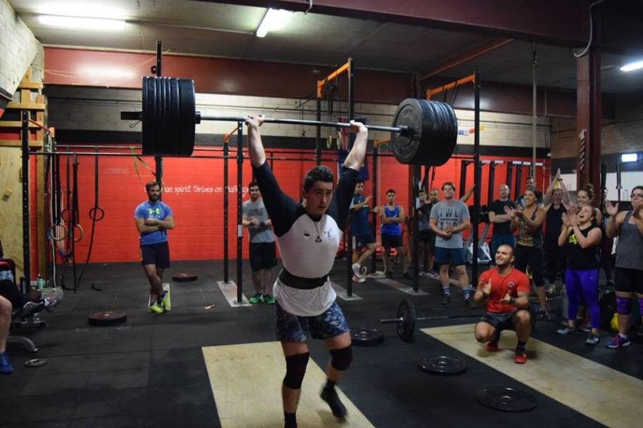 Everyone eyes were on Bun as he hit (easily) a 140  clean & jerk.