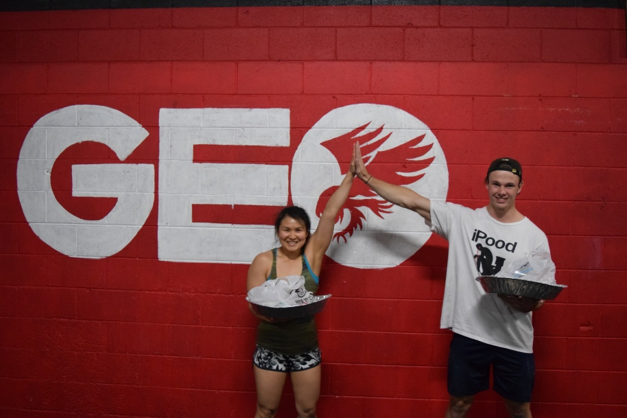 Ang & Diaz - last week's top female and male lifters at GEO's Barbell Open