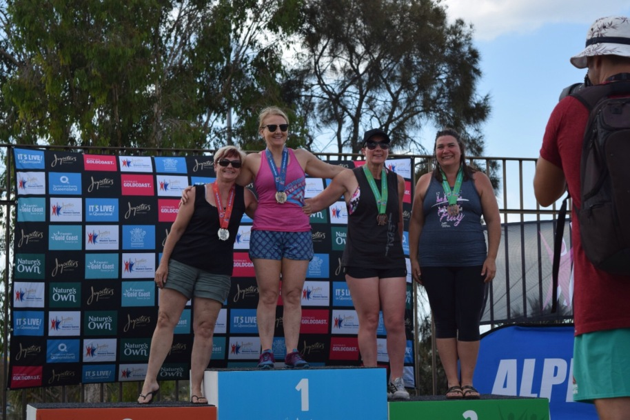 Rach made the podium again. This time a tied 3rd place at the Pan Pac Masters Games in QLD. So inspiring!