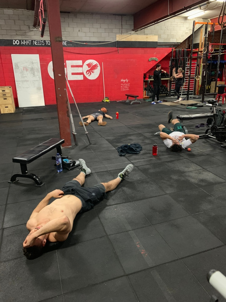 Guess what exercise these guys just finished?